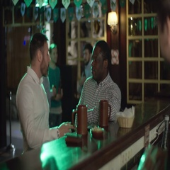 Coworkers talking at the bar counter Stock Footage