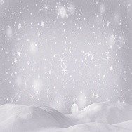 Beautiful snow drift and silver snowfall seamless loop 4k (4096x2304) Stock Footage