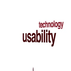 Usability animated word cloud. Stock Footage