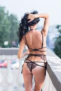 Beautiful lady in sexy lingerie Stock Photos
