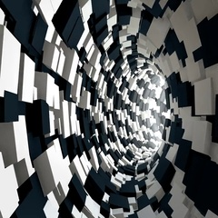 Infinite tunnel of cubes. Stock Footage