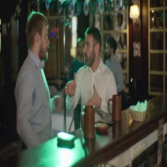 Colleagues chatting in the pub Stock Footage