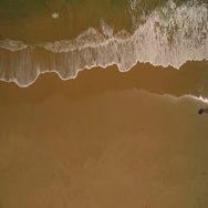 Sandy beach from above. Drone footage, Video. Stock Footage