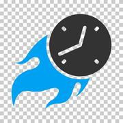 Deadline Fire Vector Eps Icon Stock Illustration