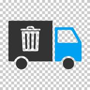 Rubbish Transport Van Vector Eps Icon Stock Illustration