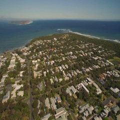 Coastal Urban houses from above. Australia Stock Footage
