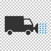 Street Washing Car Vector Eps Icon Piirros