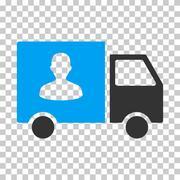 Passenger Transport Van Vector Eps Icon Stock Illustration