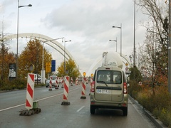 Crossing border between France and Germany near Strasbourg Stock Footage