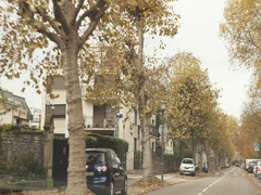 Fast motion French city fall Stock Footage