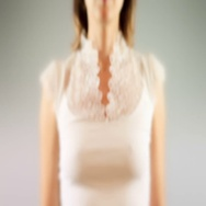 Young female pressing the screen then question head symbol appearing Stock Footage