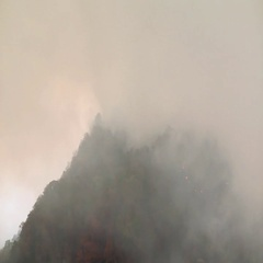 Wild fire visible mountain lake lure nc Stock Footage