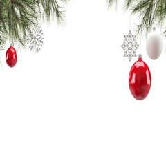 Christmas decoration background Loop Stock Footage
