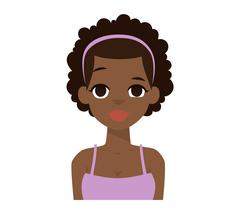 Afro american girl vector illustration. Stock Illustration