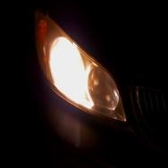 Battery failure failing headlight head light Stock Footage