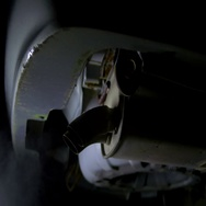 4k car exhaust vehicle bottom of car Stock Footage