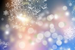 Light abstract Christmas background with holiday lights Stock Photos