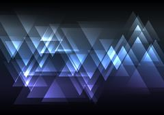 Blue abstract triangle overlap background Stock Illustration