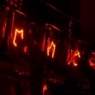 Flickering flicker lights bulb bulbs filament Stock Footage