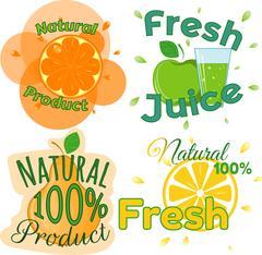 Digital vector fresh orange juice Piirros
