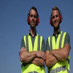 Airport Staff People Looking Camera Posing International Airliner Ground Service Stock Footage