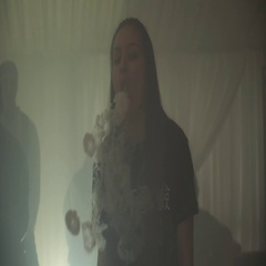Girl exhale steam rings from electronic cigarette. Vaper. Subculture. Smoker Stock Footage