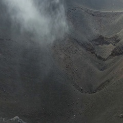 Smoke on Summit Crater of Etna volcano Stock Footage