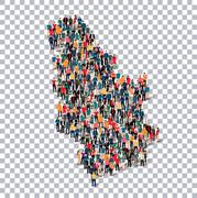 People map country Serbia vector Stock Illustration