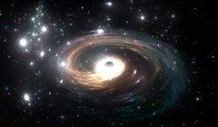 Black hole in deep space Stock Illustration