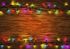 Colorful Christmas LED Lights Stock Illustration