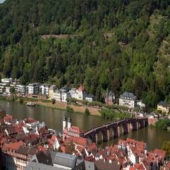 Old Bridge in Heidelberg. Stock Footage