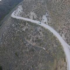 Car on unpaved road Idaho Sawtooth National  Stock Footage