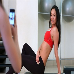 In aerobic exercise class  Stock Footage