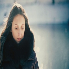 Happy Romantic Girl in Winter. Smiling Woman. Stock Footage