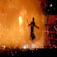 Magic ninjia of fire Stock Footage