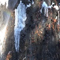 4k Close up winter first frost Radau waterfall rocks with rainbow Harz mountains 4k or 4k+ Resolution