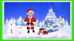 Christmas Greetings (Green Screen) Stock Footage