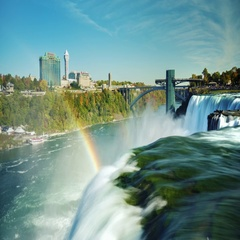 The world-famous Niagara Falls - a popular place among tourists. In the picture Stock Footage