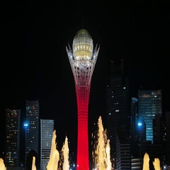 Baiterek - The central interesting place of the new Astana, in the light of Stock Footage