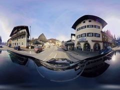 360 degree video, Car Drive in Bavaria Stock Footage