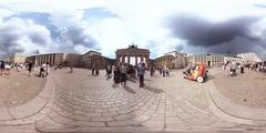 360 Degree Video Berlin, Brandenburg Gate Stock Footage
