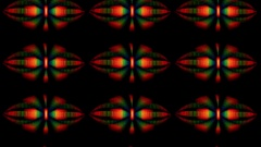 Abstract shapes moving upwards Stock Footage
