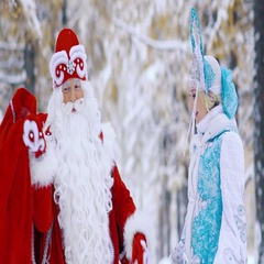 Woman and man dressed in fairy costumes taking out gift from bag Stock Footage