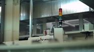 Warning light alarm for machine working Stock Footage