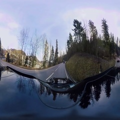 360 Degree Video, Car Drive in Bavaria, Through a Small Village Stock Footage