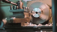 Machine and metal shavings Stock Footage