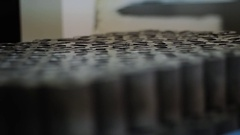 Metal blanks for details Stock Footage