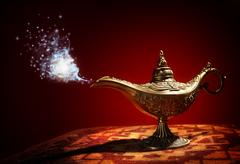 Magic Aladdins Genie lamp Kuvituskuvat