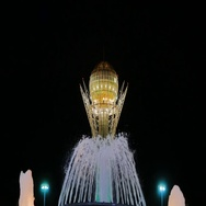 Baiterek - The central point of interest of the new Astana, in the light of Stock Footage