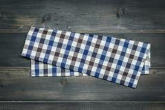 Tablecloth on wooden Stock Photos